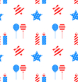 Seamless Texture with Objects for Independence Day vector image vector image