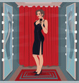 selfie black dress in fitting room vector image vector image