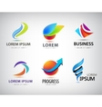 set of abstract logo design web icons 3d vector image vector image