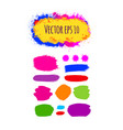 set of painted grunge banners bright colorful ink vector image vector image