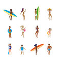 set people relaxing performing summer outdoor vector image