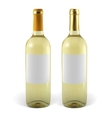 Set realistic bottles of white wine vector image vector image