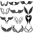 set tattoo wings vector image vector image