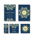 set weeding invitation flyer card and social media vector image