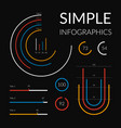 simple infographics set vector image