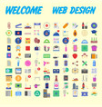 simple set of online shopping icons design vector image