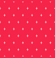 simple star shapes red seamless pattern vector image vector image