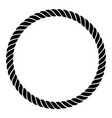 single rope braided line in a perfect circle vector image