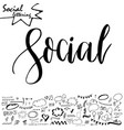 social media word lettering for your blog vector image vector image