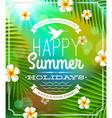 Summer holidays lettering emblem vector image vector image