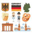 travel pictures set of traditional and cultural vector image vector image