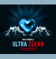 ultra clean design packaging design for liquid vector image vector image