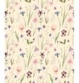Watercolor wild flowers pattern vector image vector image
