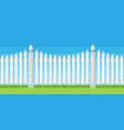 white wooden fence vector image