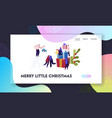 winter festive season xmas celebration website vector image vector image