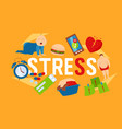 work and stress factors icons banner vector image
