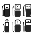 Gas and fuel pump icons set vector image