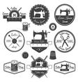 Set of vintage tailor labels