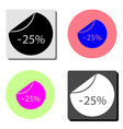25 percent off sale flat icon vector image