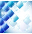 abstract blue squares vector image vector image