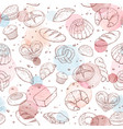 baking patetrn watercolor vector image vector image