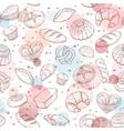 baking pattern watercolor vector image vector image