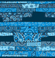 bandana paisley fabric patchwork wallpaper vector image