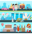 banners of east countries vietnam vector image vector image