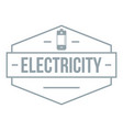 battery logo simple gray style vector image vector image