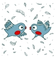 Birds Quarrel vector image vector image