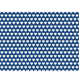 blue heart shape pattern vector image vector image