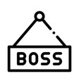 boss nameplate icon outline vector image vector image