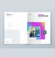 brochure cover background design corporate vector image