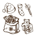 Christmas and New Year objects collection vector image vector image