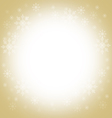 Christmas and winter background - gold vector image vector image