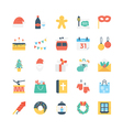 Christmas Colored Icons 4 vector image vector image