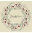Christmas wreath frame vector image vector image