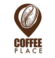 coffee place isolated icon ripe bean and vector image