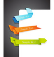 Color edge ribbons vector image