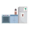 cooking stove fridge knives appliance and vector image