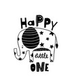 cute hand drawn elephant in black and white style vector image