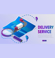 delivery website banner delivery service app with vector image