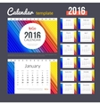 Desk Calendar 2016 Design Template with abstract vector image