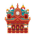 fairytale castle festively decorated with watch vector image vector image