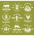 Farm Monochrome Emblems vector image vector image