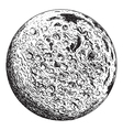 full moon planet with lunar craters vector image