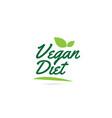 green leaf vegan diet hand written word text for vector image vector image