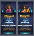halloween party flyer vertical vector image