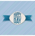Happy Fathers Day realistic Emblem vector image vector image