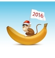 Happy New Year of Chinese Monkey Christmas Card vector image vector image